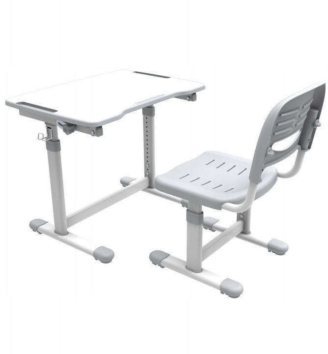 Regulowane biurko dziecięce Sole II Grey-S FunDesk