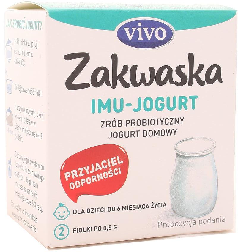 Zakwaska IMU-Jogurt żywe kultury bakterii Vivo - 2x0,5g