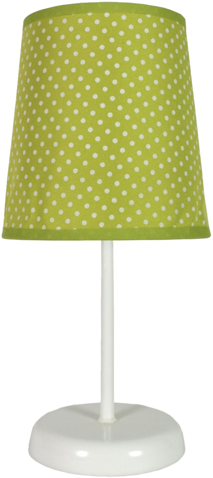 Candellux GALA 41-98262 lampa stołowa abażur zielona w kropki 1X40W E14 14 cm