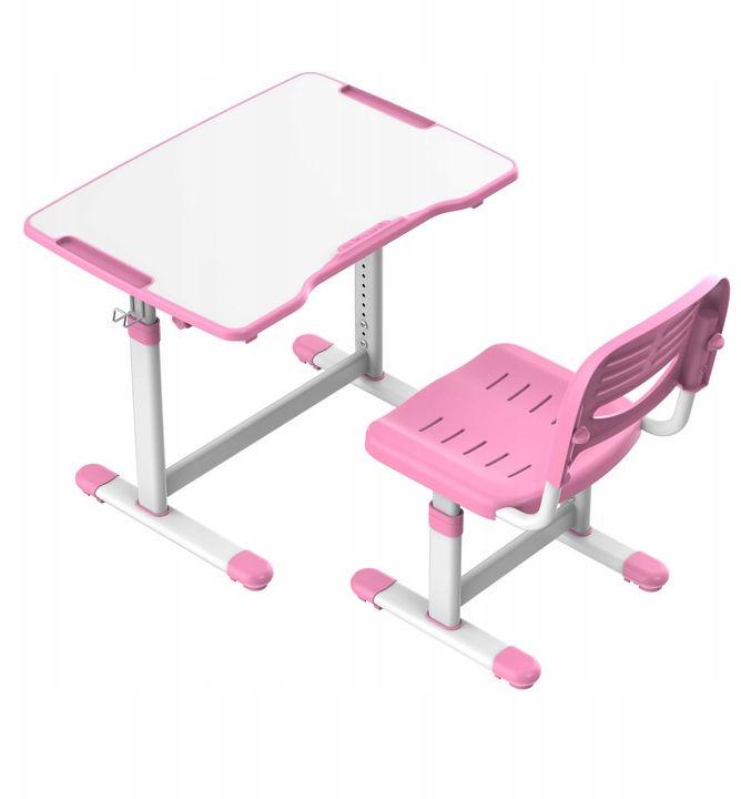 Regulowane biurko dziecięce Sole II Pink-S FunDesk