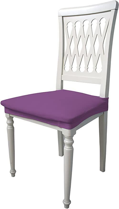 Più bello PB-LI Bielastyczne pokrowce na krzesła, zestaw fioletowych (2 sztuki), 100% poliester, standard