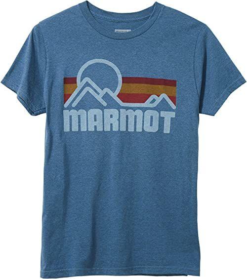Marmot Męski Coastal Tee Short Sleeve T-shirt z krótkim rękawem, koszulka funkcyjna, szybkoschnąca i oddychająca, Stargazer Heather, S