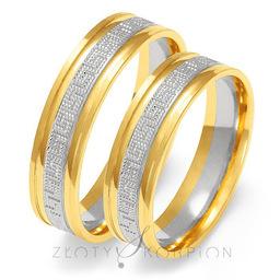 Obrączki ślubne Złoty Skorpion  wzór Au-OE226