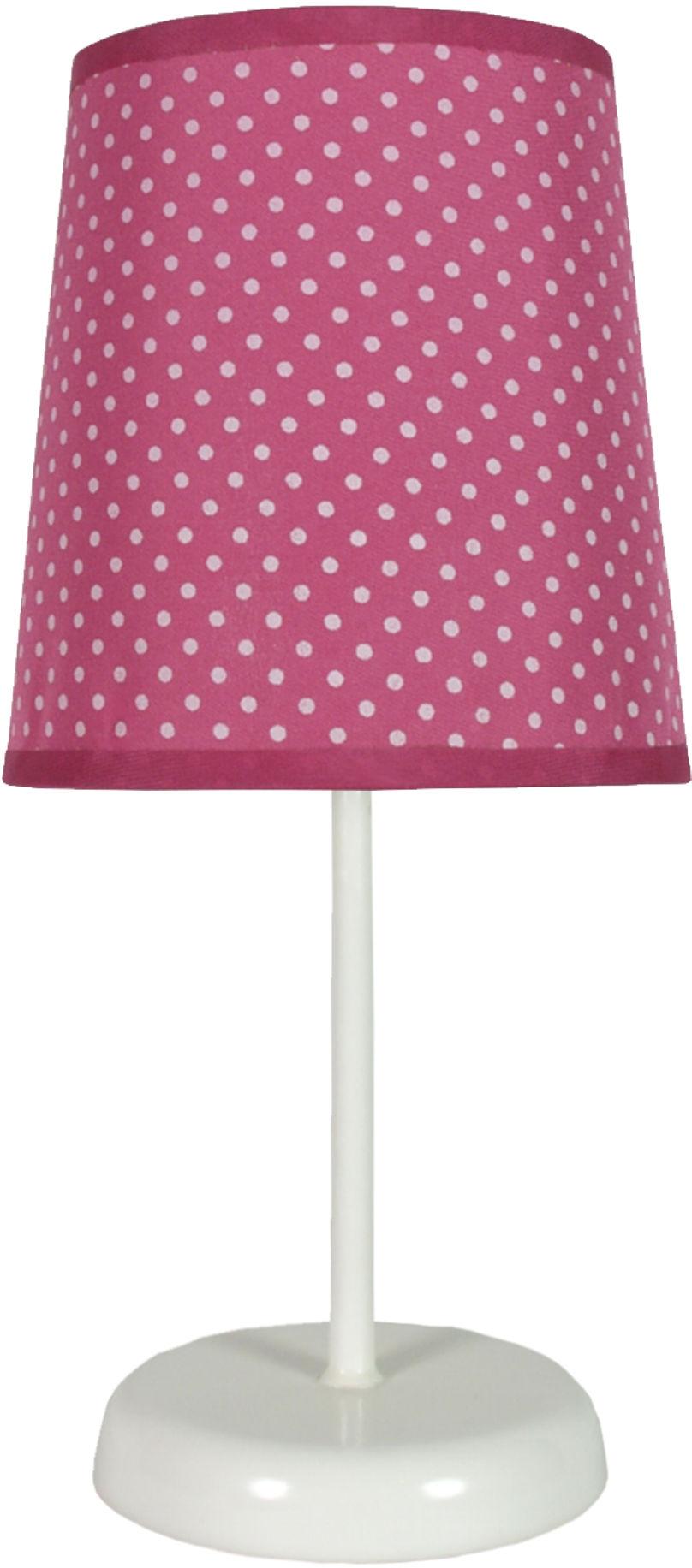 Candellux GALA 41-98279 lampa stołowa abażur fuksja w kropki 1X40W E14 14 cm