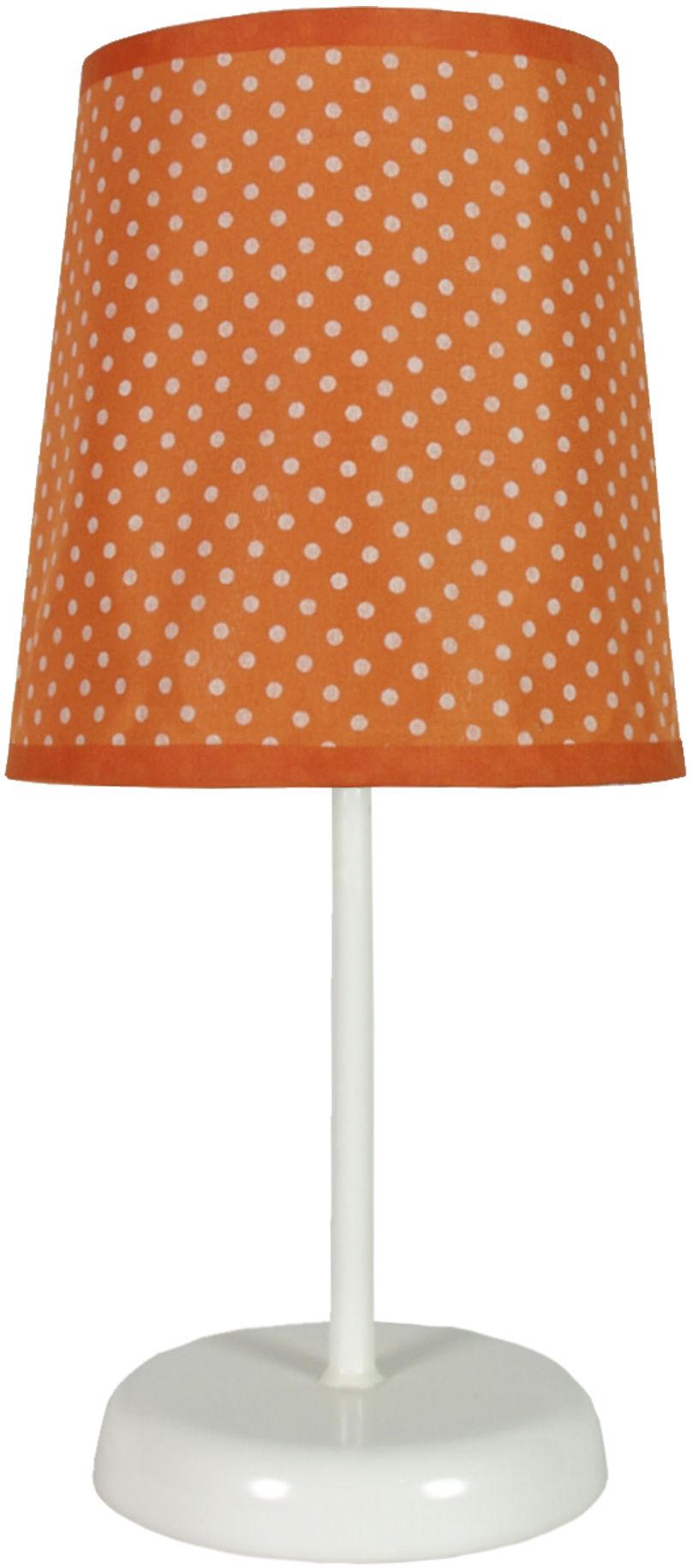 Candellux GALA 41-98286 lampa stołowa abażur pomarańczowa w kropki 1X40W E14 14 cm