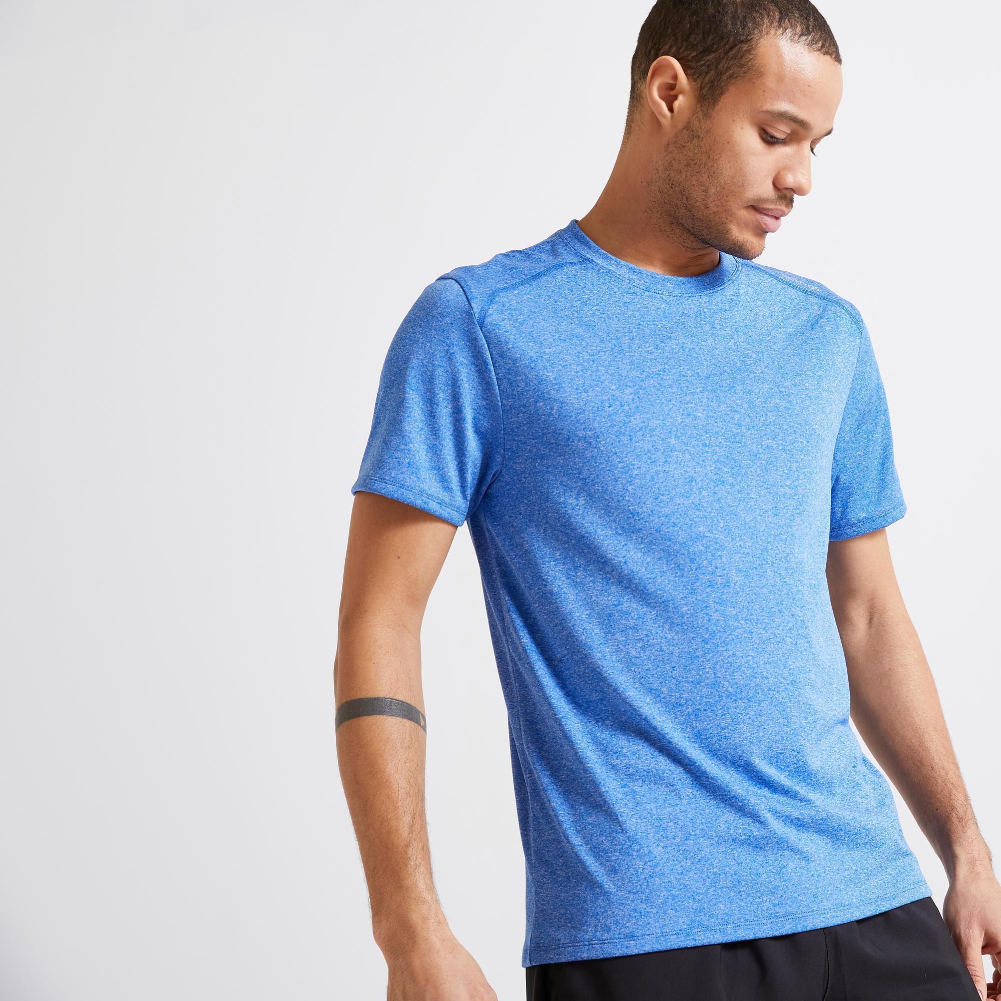 Koszulka krótki rękaw fitness cardio FTS 100 męska