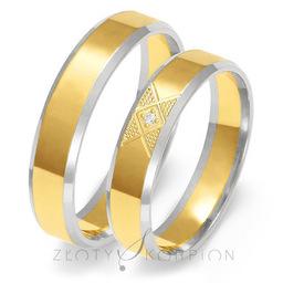 Obrączki ślubne Złoty Skorpion  wzór Au-OE227