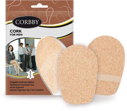 Corbby Podpiętki korkowe męskie Cork for men 0,5 cm 1 para