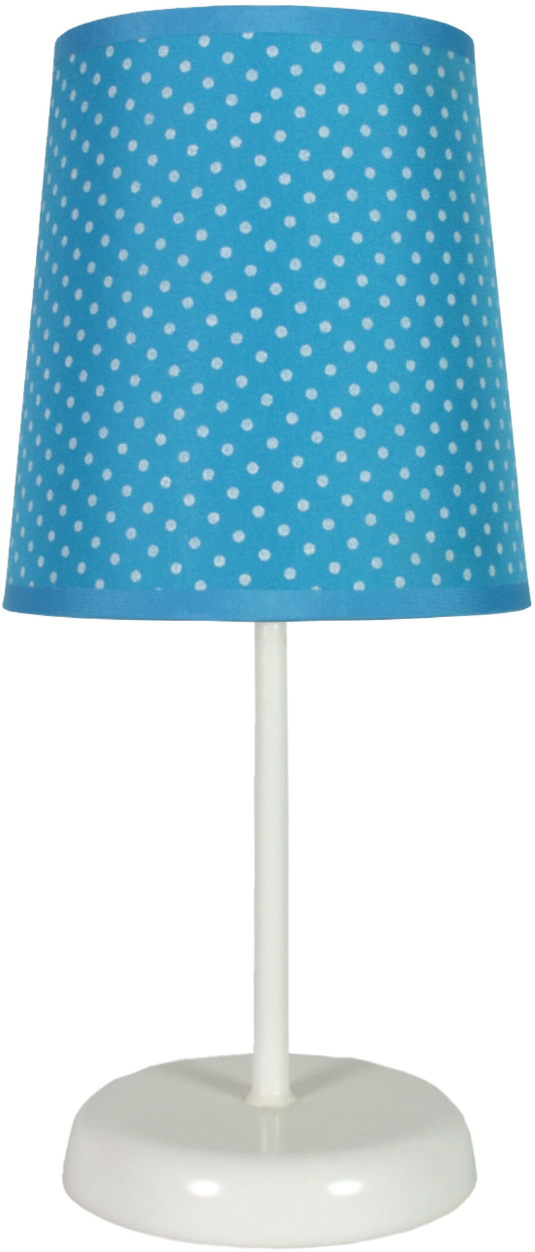 Candellux GALA 41-98293 lampa stołowa abażur niebieska w kropki 1X40W E14 14 cm