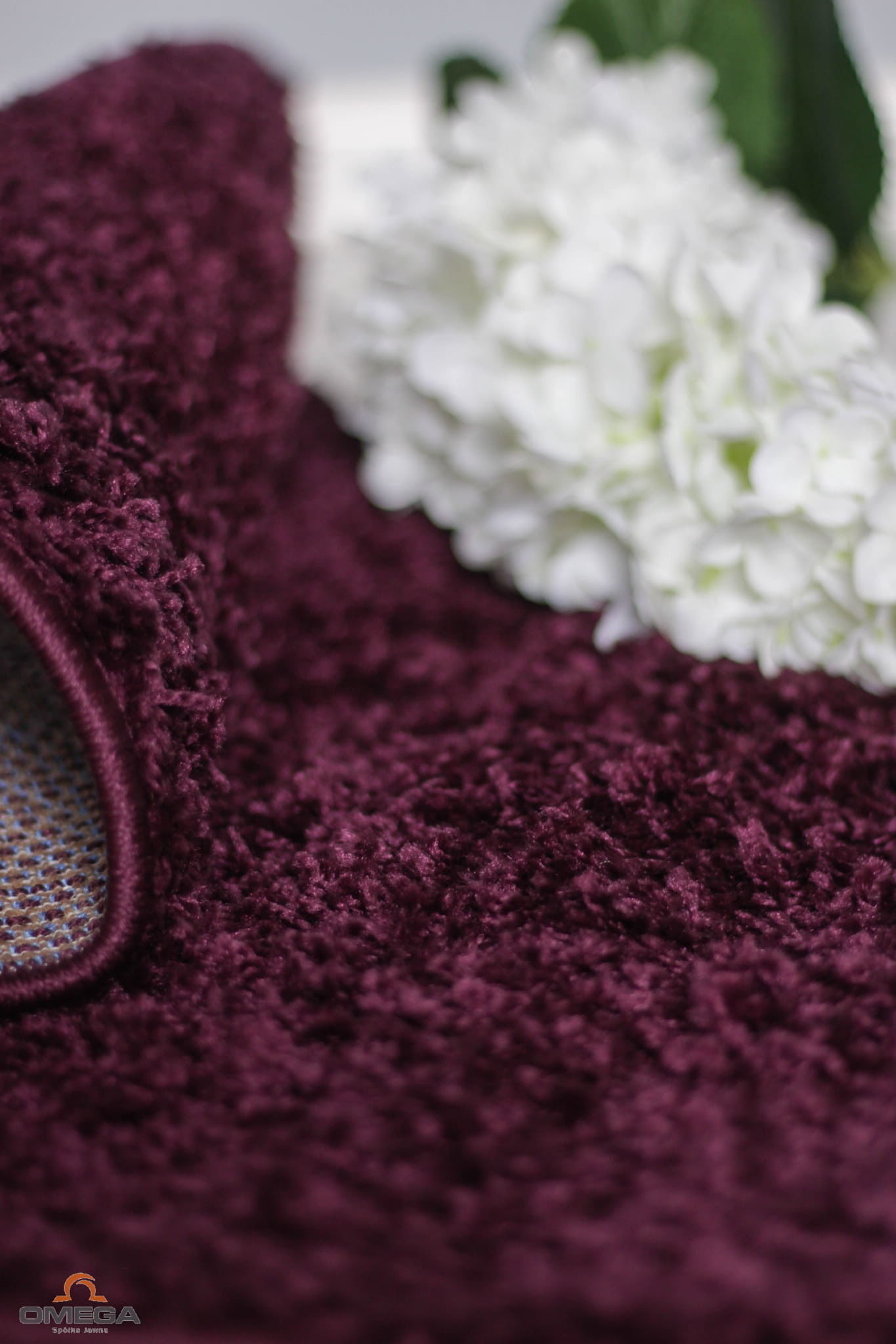 Dywan Shaggy 200x300 włochaty fiolet śliwkowy Paradise 9