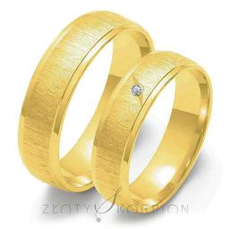 Obrączki ślubne Złoty Skorpion  wzór Au-O23