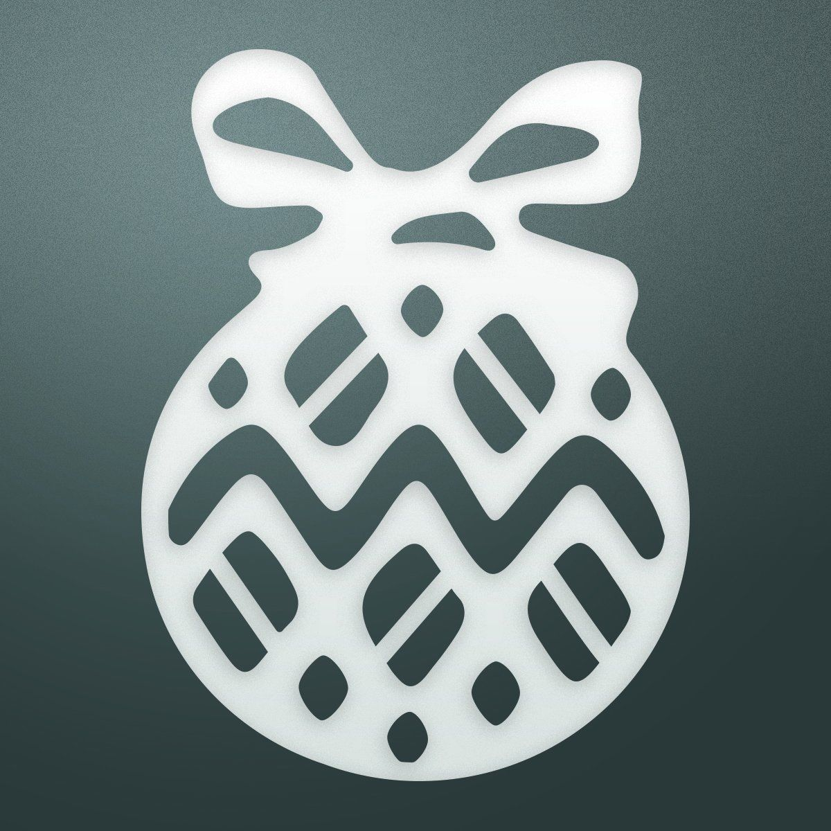 Couture Creations bombka mini matryca, metal, czarny, 12,2 x 6,6 x 0,2 cm