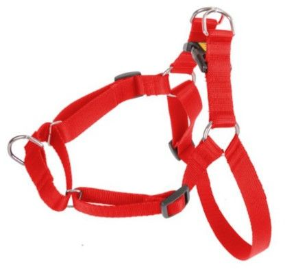DINGO Szelki Easy Walk - dla psów ciągnących na smyczy - czerwone