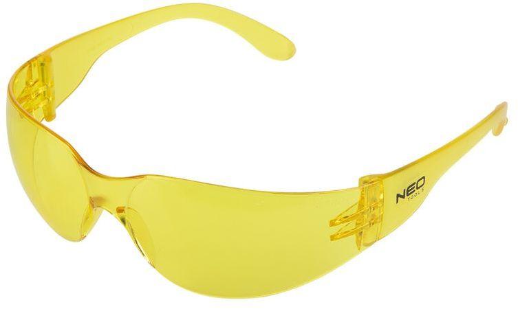 Okulary ochronne żółte soczewki klasa odpornosci F 97-503