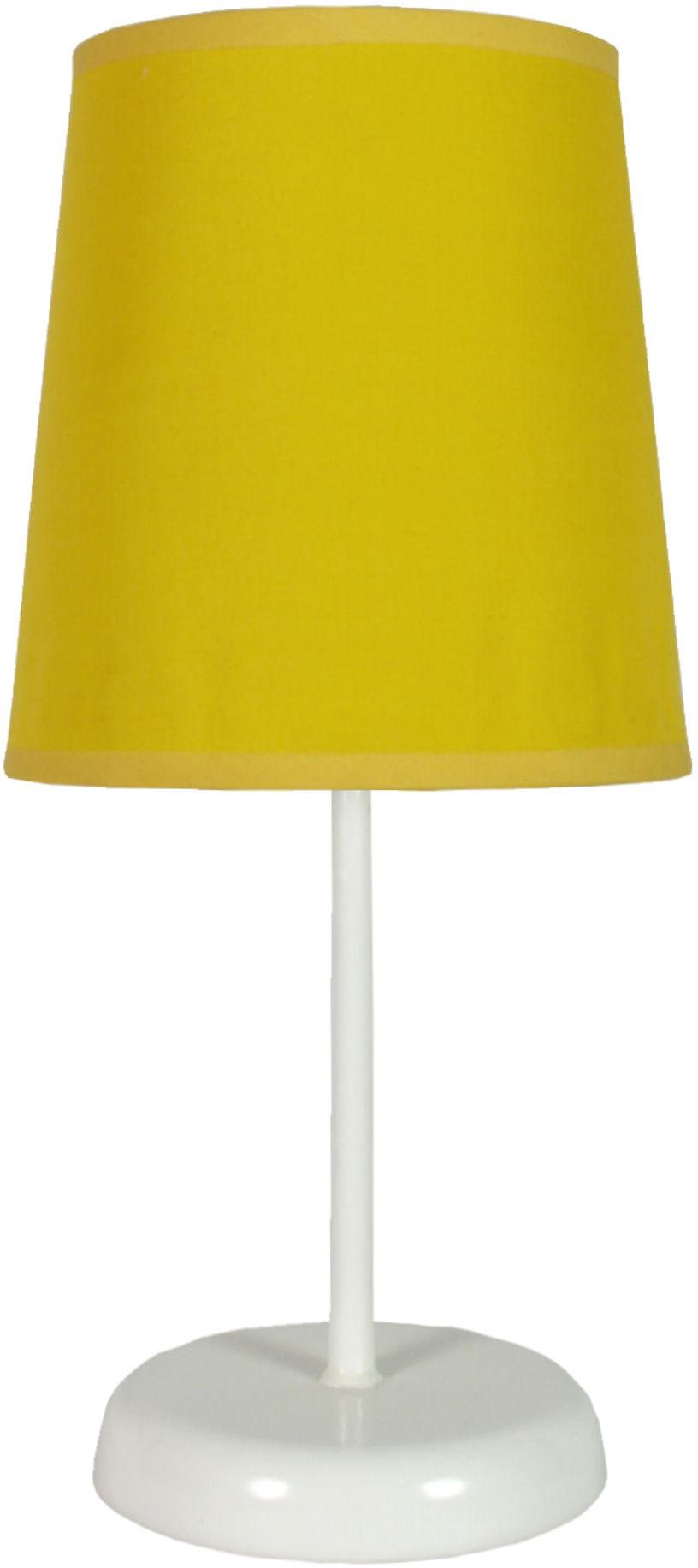 Candellux GALA 41-98552 lampa stołowa abażur żółty 1X40W E14 14 cm