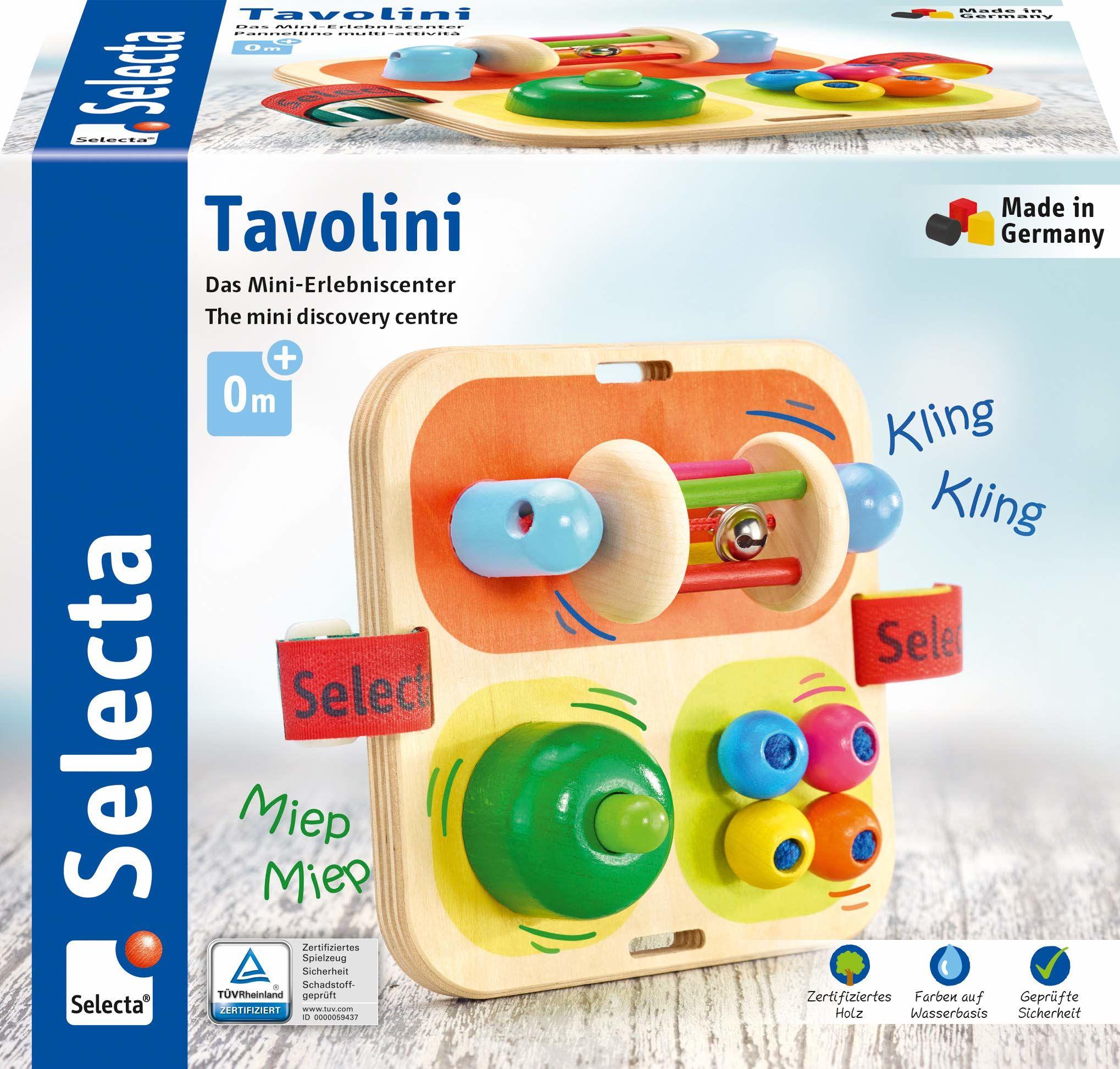Selecta 62014 Tavolini, drewniana zabawka motoryczna, 14 cm