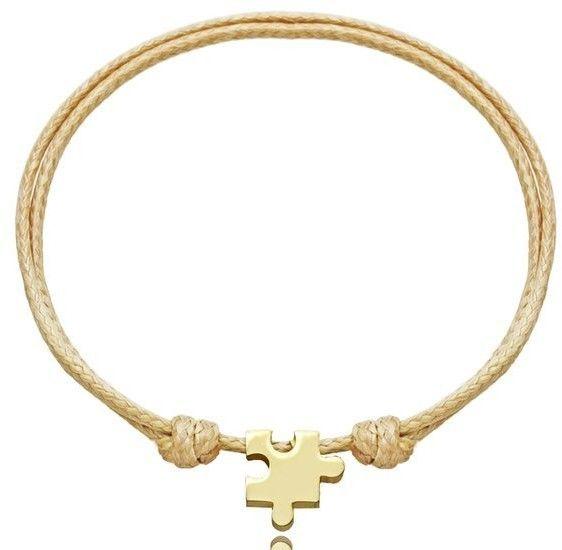1176 bransoletka złoty puzzel z grawerem stal