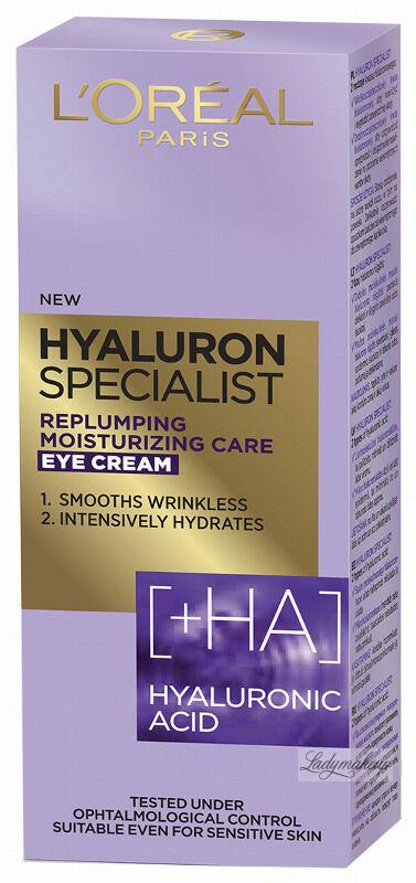 L''Oréal - HYALURON SPECIALIST EYE CREAM - Przeciwzmarszczkowy krem pod oczy - 15 ml