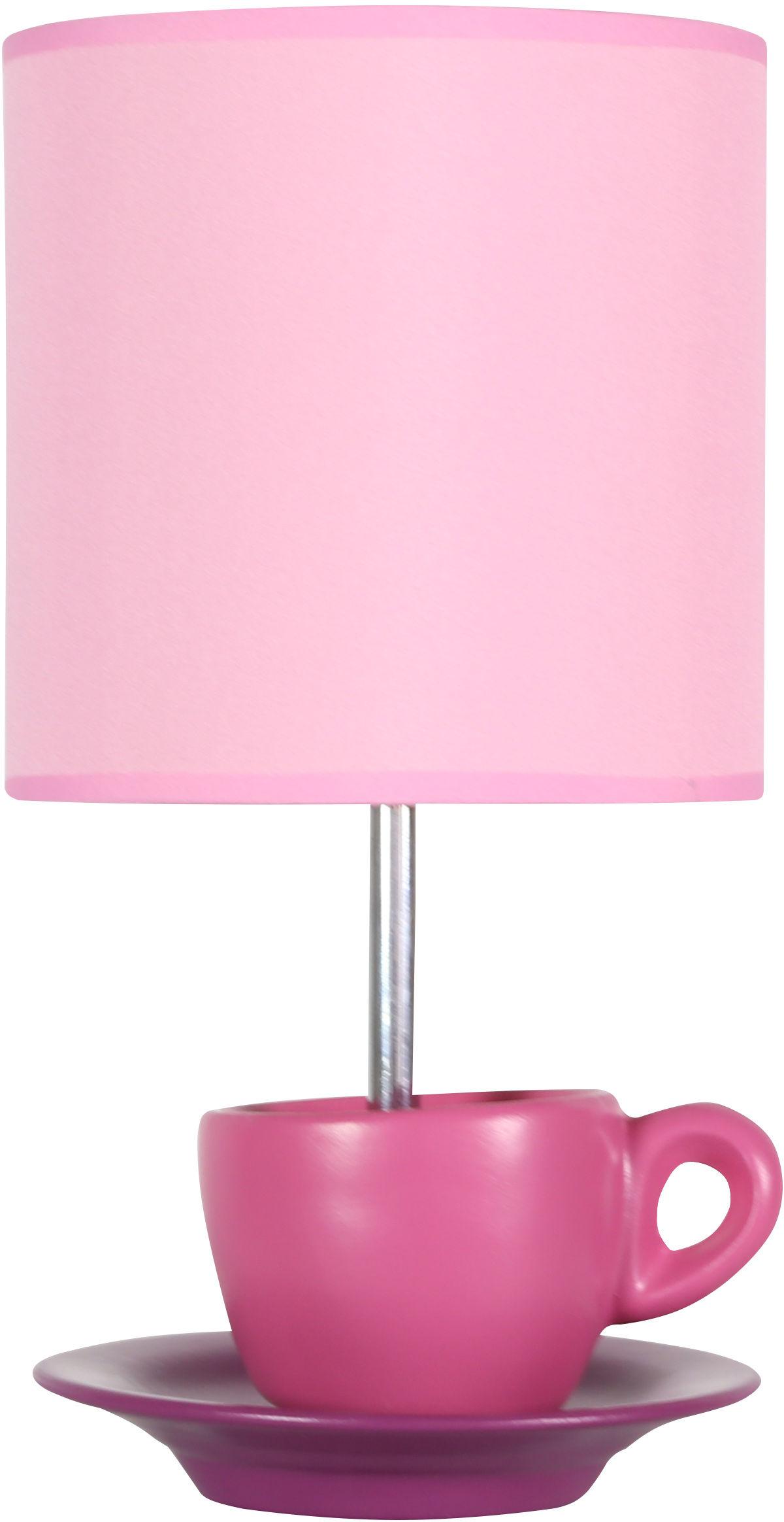 Candellux CYNKA 41-34809 lampa stołowa abażur różowy 1X60W E27 16 cm