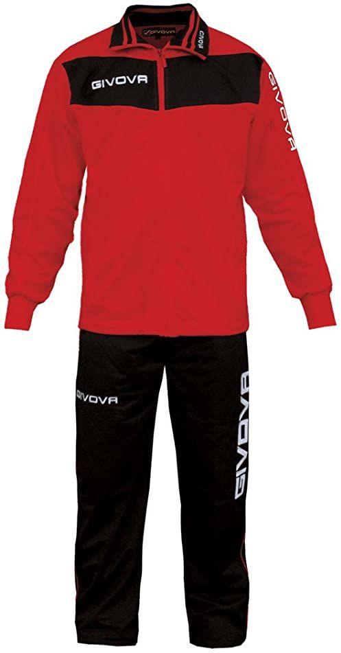 Givova, garnitur wela, czerwony/czarny, 3XL