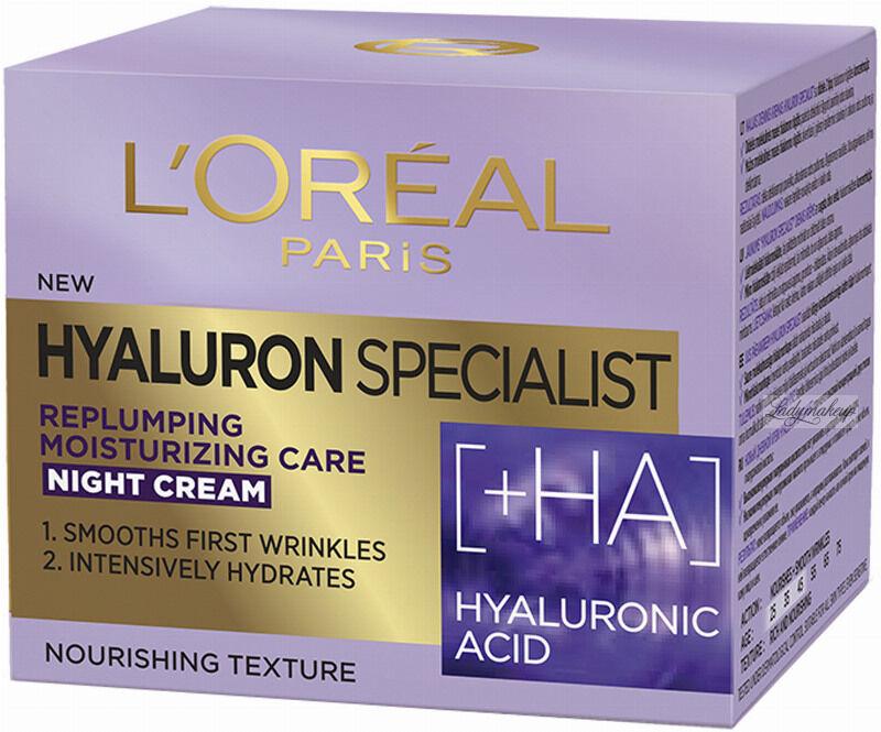 L''Oréal - HYALURON SPECIALIST NIGHT CREAM - Przeciwzmarszczkowy krem do twarzy na noc - 50 ml