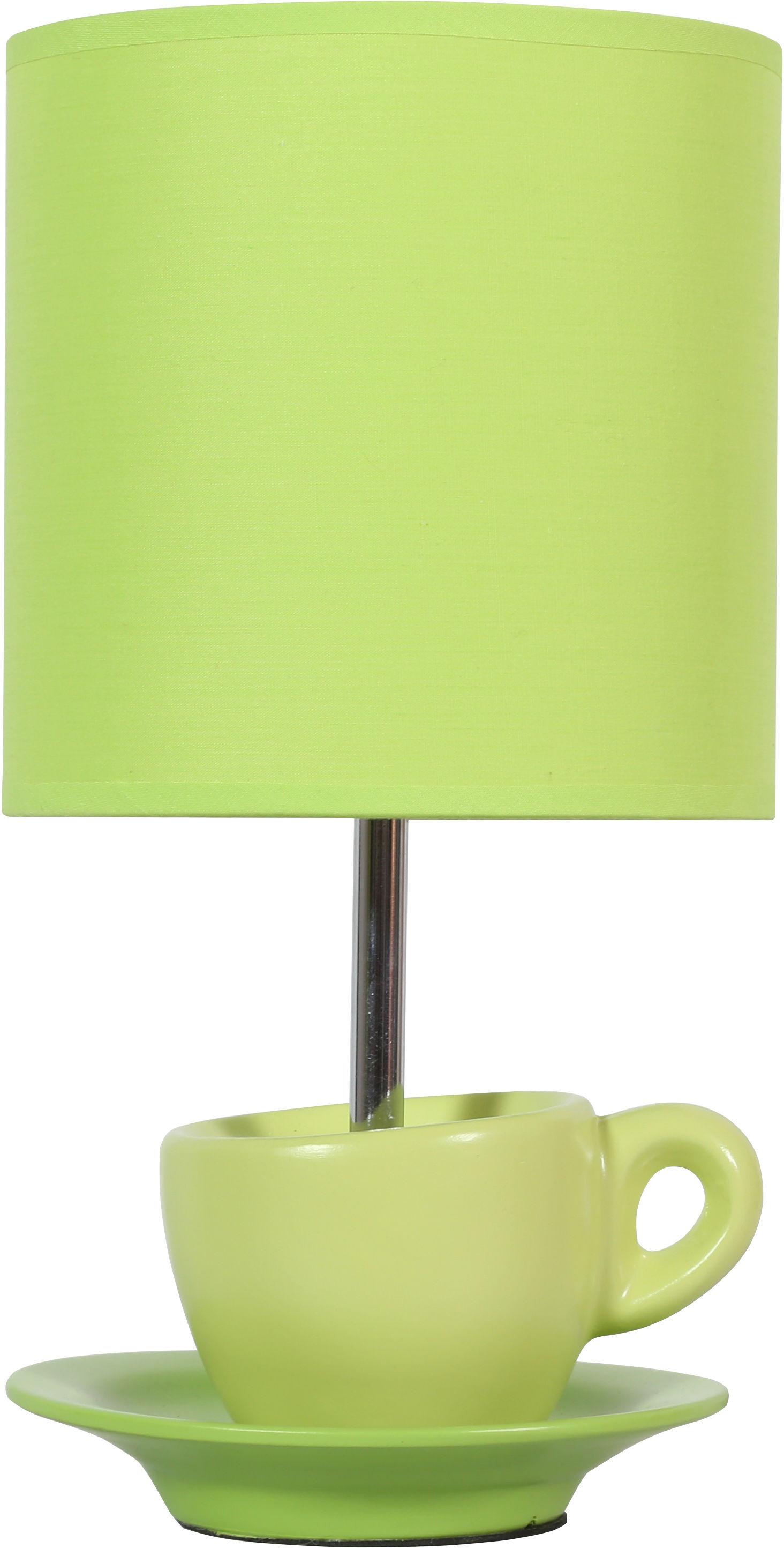 Candellux CYNKA 41-34830 lampa stołowa abażur pistacjowy 1X60W E27 16 cm