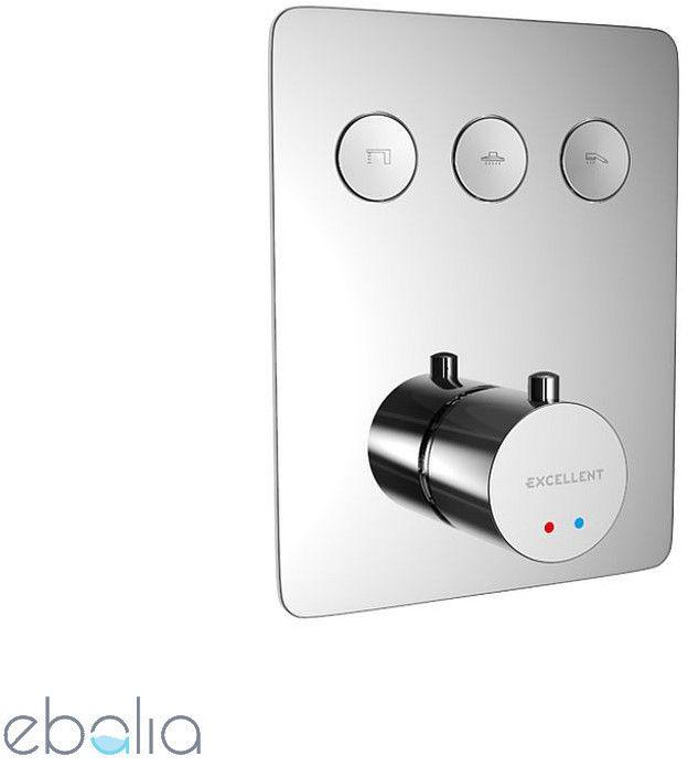 EXCELLENT - Bateria podtynkowa prysznicowa-wannowa termo 3 wyjściowa Krotos - ZNALAZŁEŚ TANIEJ? ZADZWOŃ 726 713 313