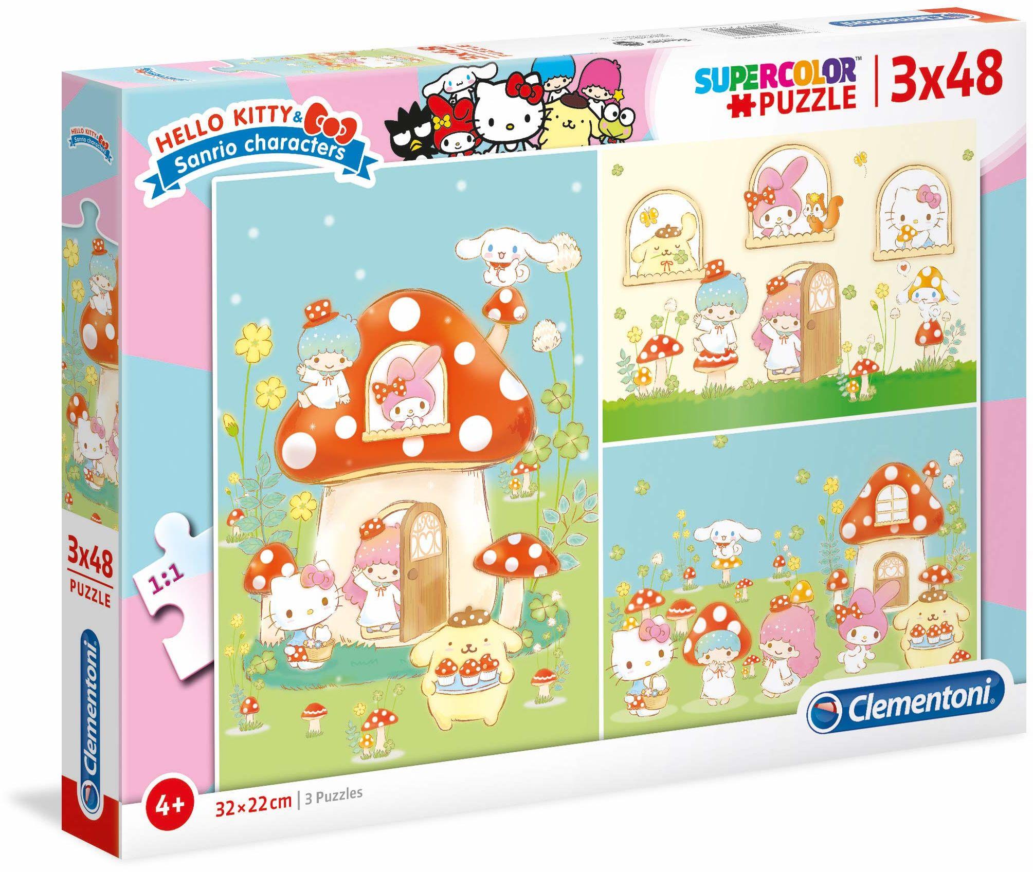Clementoni 25246 3 x 48 szt. Puzzle Hello Kitty