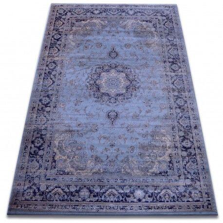 Dywan heat-set Jasmin 8676 niebieski 60x100 cm