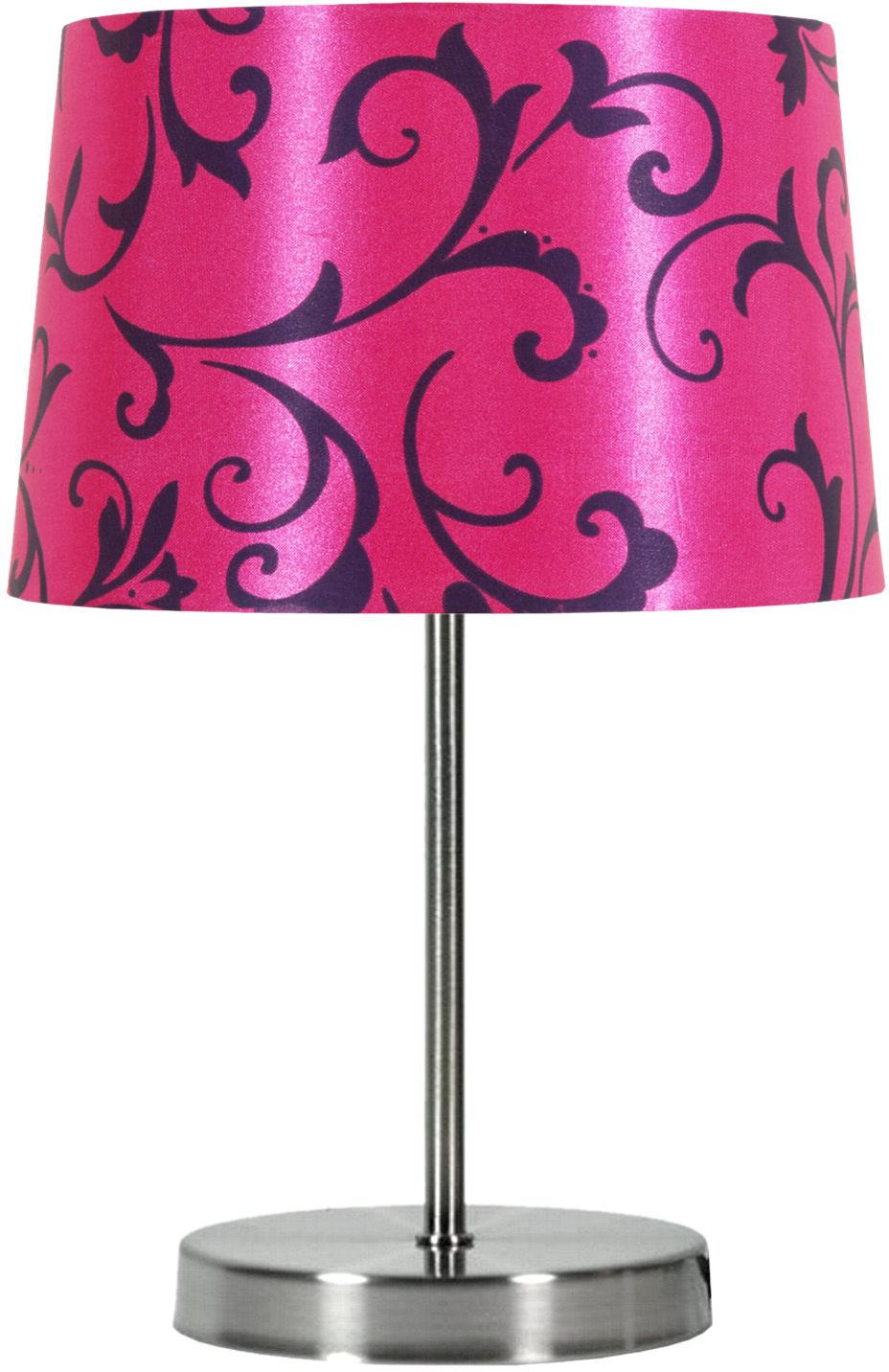 Candellux AROSA 41-55866 lampa stołowa abażur różowy 1X40W E14 21cm