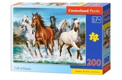 Puzzle Castor 200 - Konie w naturze, Call of Nature