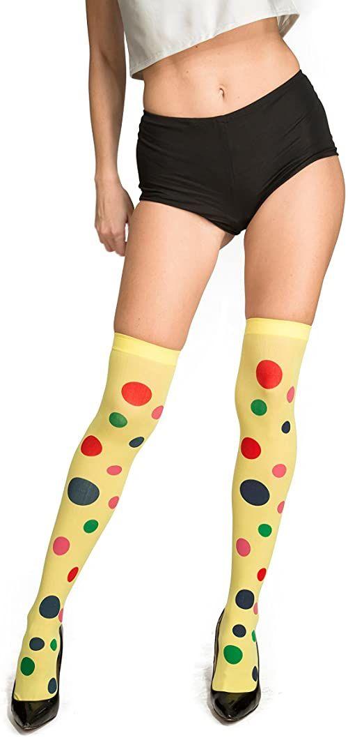 Viving Costumes 204709 pończochy klaun, wielokolorowe, jeden rozmiar