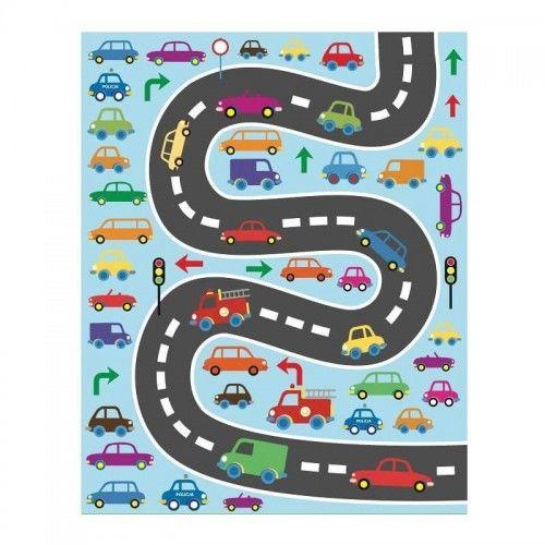 Torebka na prezent dla dziecka Droga z pojazdami rozm. M