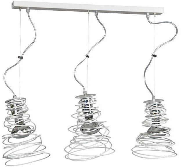 Emibig TWIST 3 WHITE 295/3 lampa wisząca potrójna zakręcona modern design biała 3x60W E27 70cm