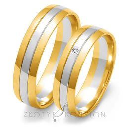 Obrączki ślubne Złoty Skorpion  wzór Au-OE11