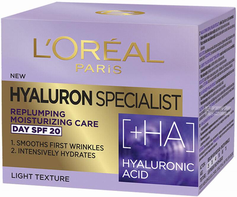 L''Oréal - HYALURON SPECIALIST DAY CREAM - Przeciwzmarszczkowy krem do twarzy - Dzień - SPF 20 - 50 ml