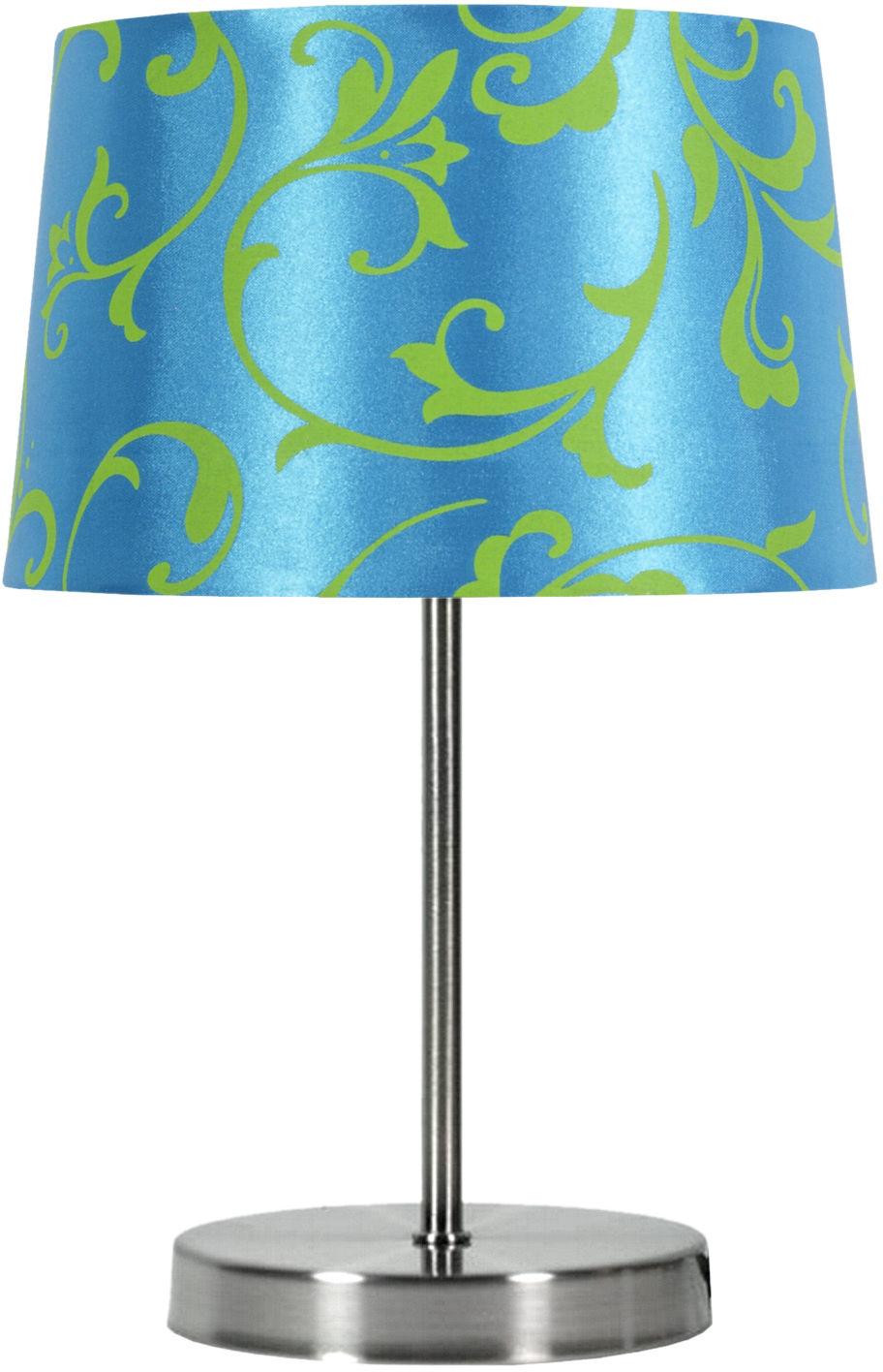 Candellux AROSA 41-55873 lampa stołowa abażur niebieski 1X40W E14 21cm