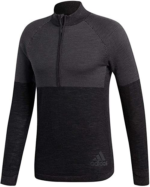 adidas męska bluza Climaheat Primeknit, Grey three/Greyfiv, 2XL