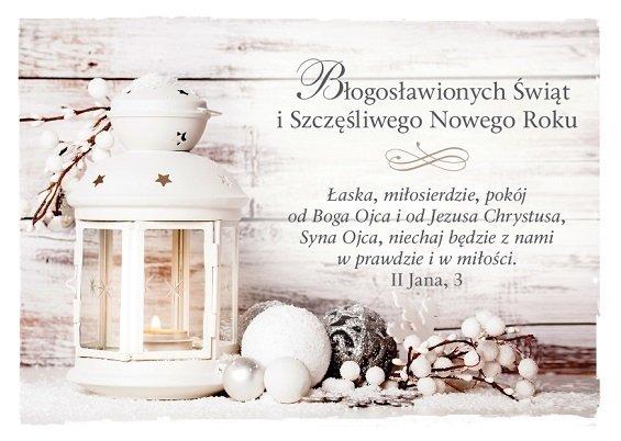 Kartka składana Boże Narodzenie 3 - Łaska, miłosierdzie, pokój