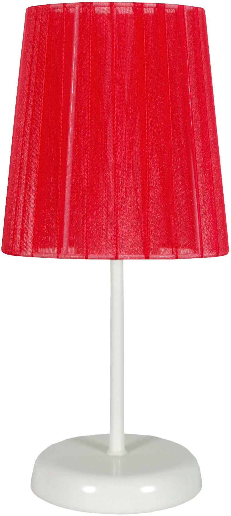 Candellux RIFASA 41-25296 lampa stołowa abażur czerwona 1X40W E14 14 cm