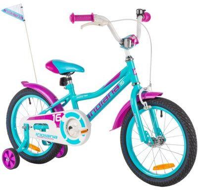 Rower dziecięcy INDIANA Roxy Kid 16 cali dla dziewczynki Turkusowy Dogodne raty! DARMOWY TRANSPORT!