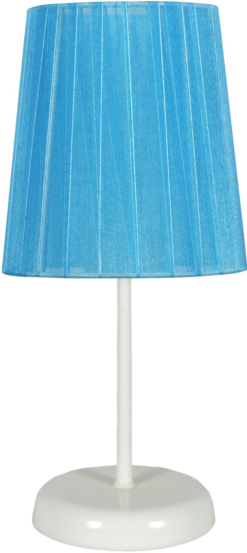 Candellux RIFASA 41-30603 lampa stołowa abażur niebieska 1X40W E14 14 cm
