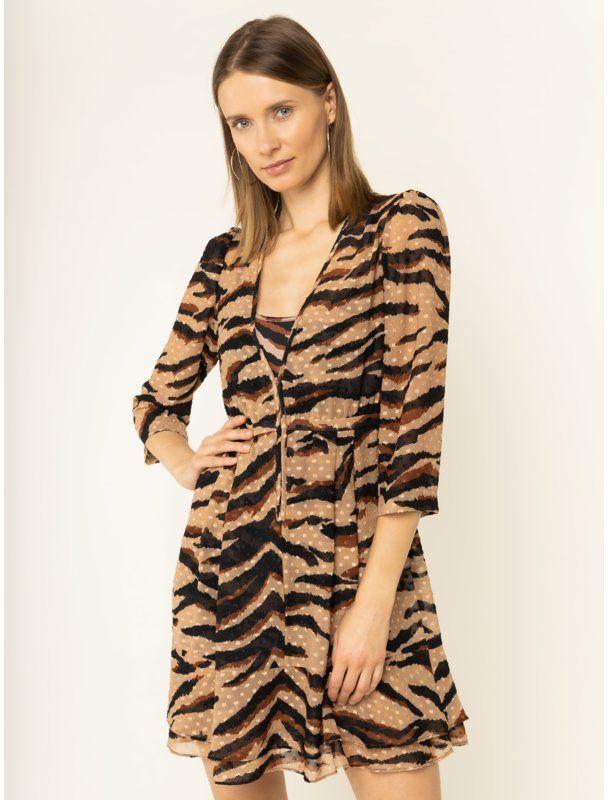 Sukienka codzienna C69024 T5712 Beżowy Regular Fit