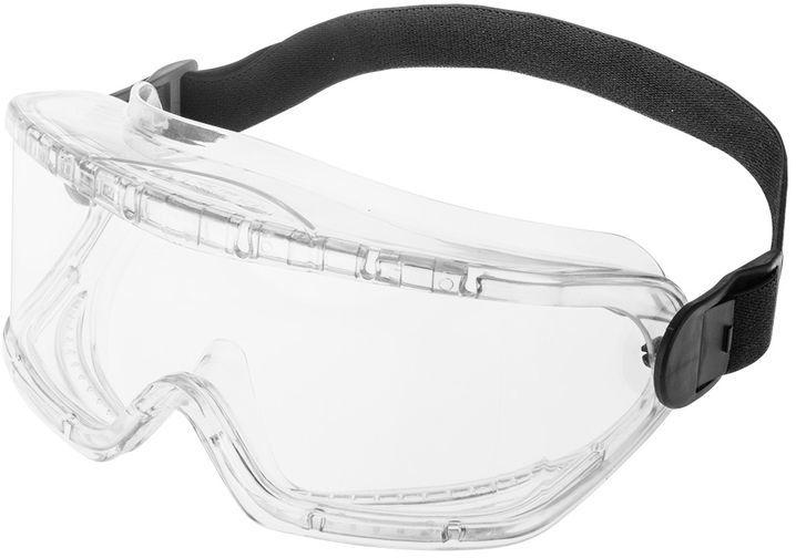 Gogle ochronne białe anty fog klasa odporności B 97-513