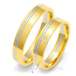 Obrączki ślubne Złoty Skorpion  wzór Au-OE18
