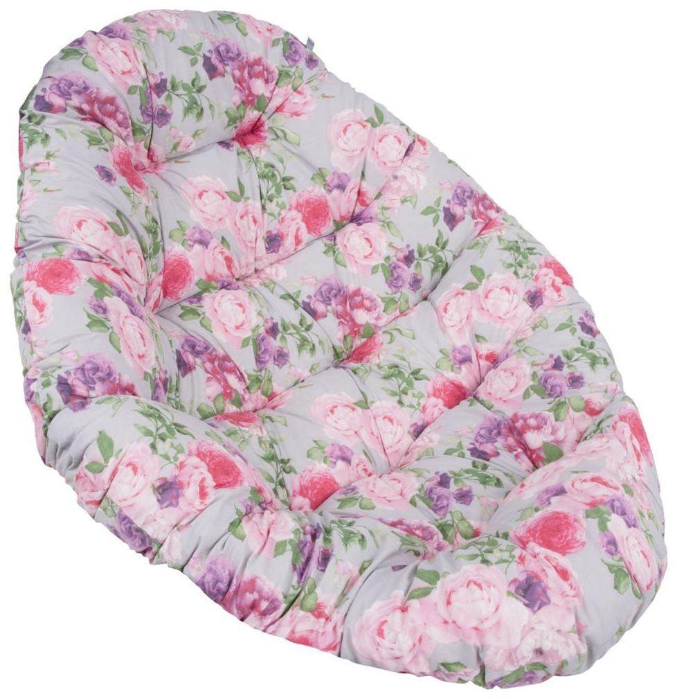 Poduszka na fotel wiszący OVAL 144 x 100 cm PATIO kwiatowa