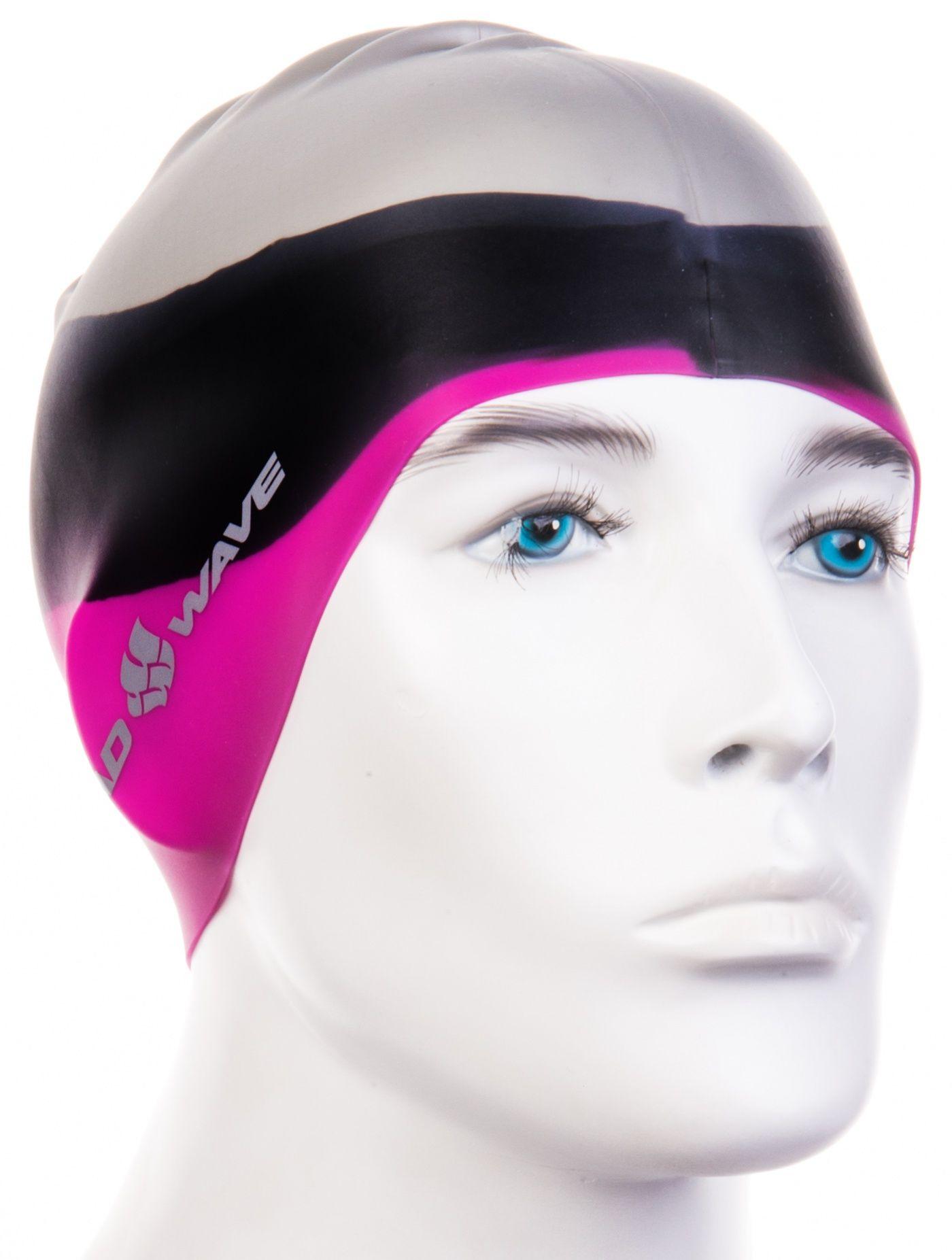 Czepek pływacki mad wave multi big silicone różowy