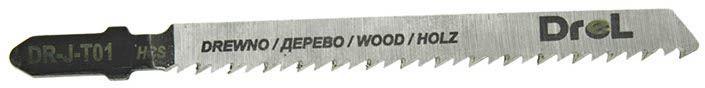 """Brzeszczoty do wyrzynarek z chwytem typu """"T"""",drewno/plastik, długość pracy 75mm,5szt"""
