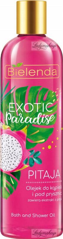Bielelda - Exotic Paradise - Bath and Shower Oil - Pitaja - Olejek do kąpieli i pod prysznic z ekstraktem z pitai- 400 ml