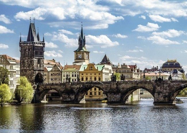 Puzzle Ravensburger 1000 - Widok na most Karola, Praga, View of the Charles Bridge, Prague